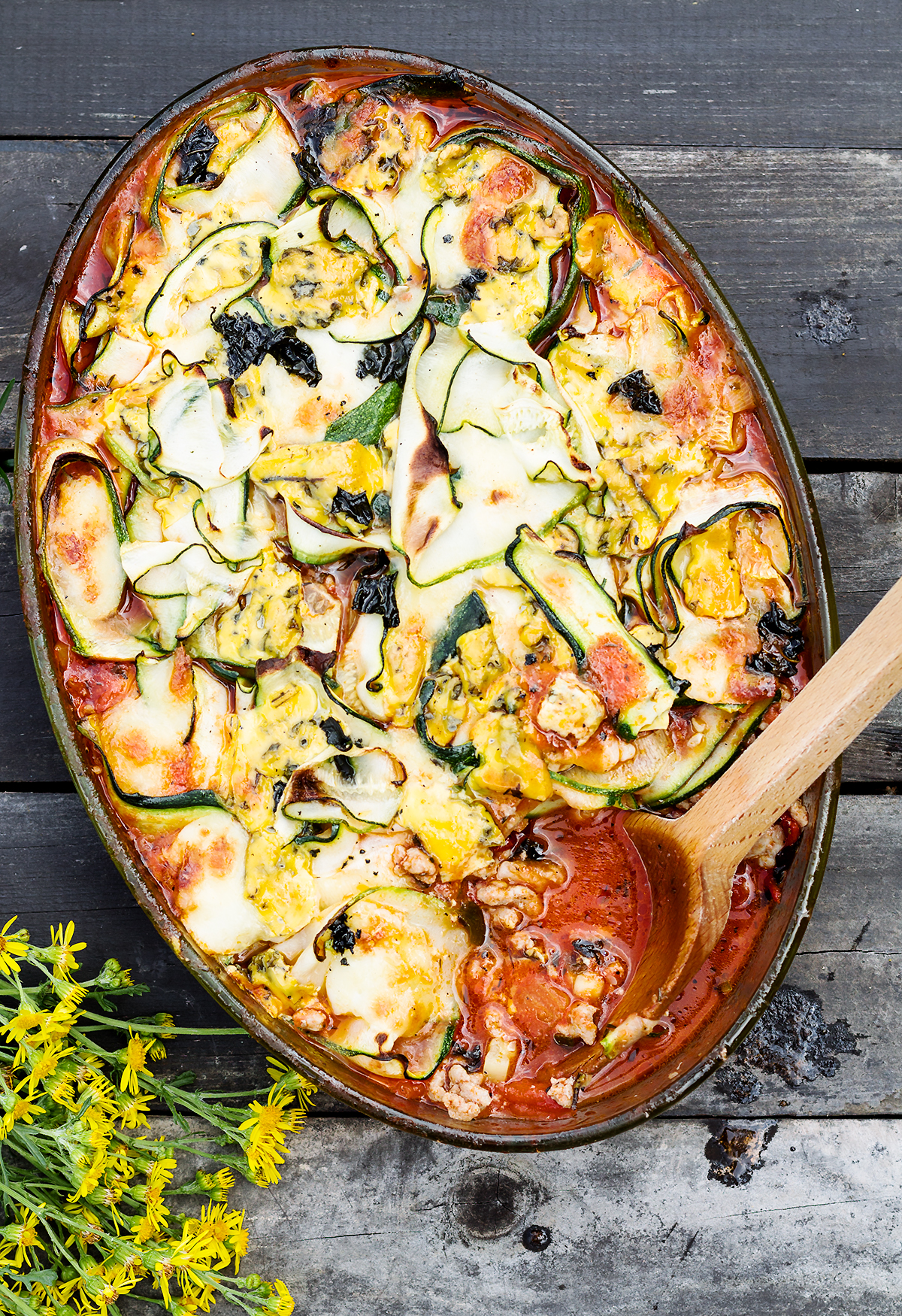 low carb lasagne z cukinią