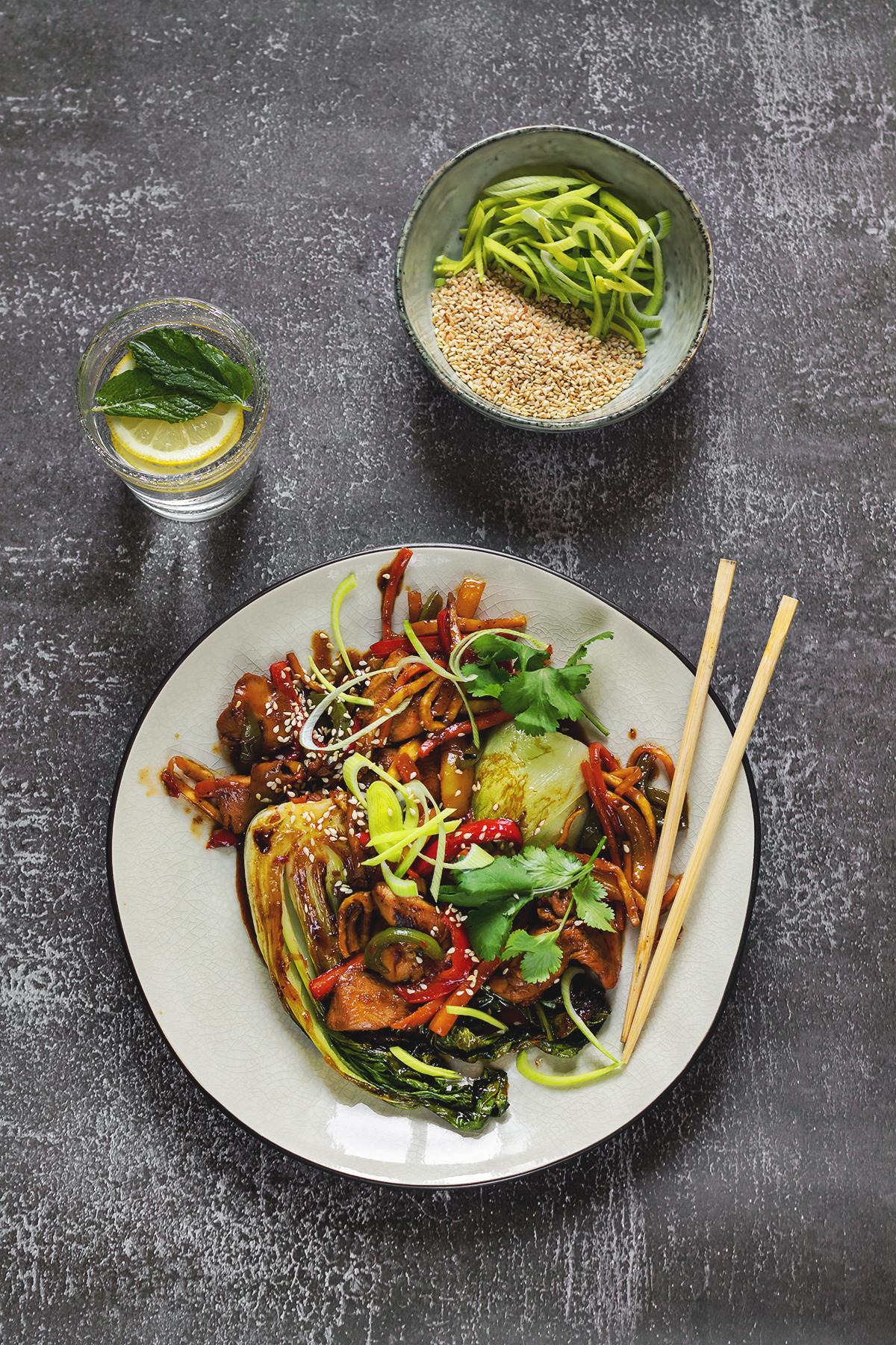 Kurczak po chińsku obiad kolacja dieta