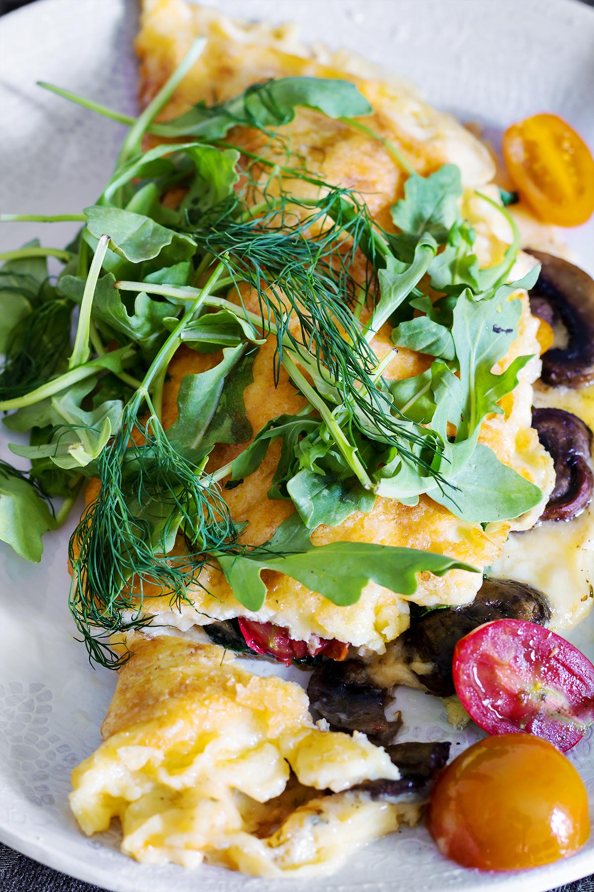 keto omlet zapiekany w serze