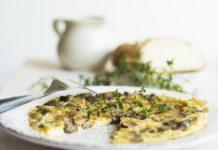 keto omlet z grzybami