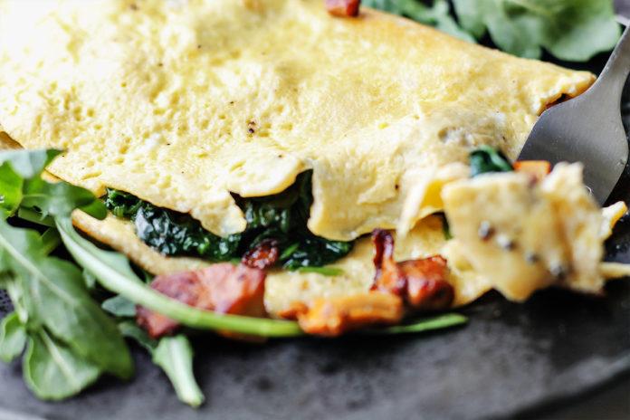 przepis na keto omlet z kurkami lchfdieta
