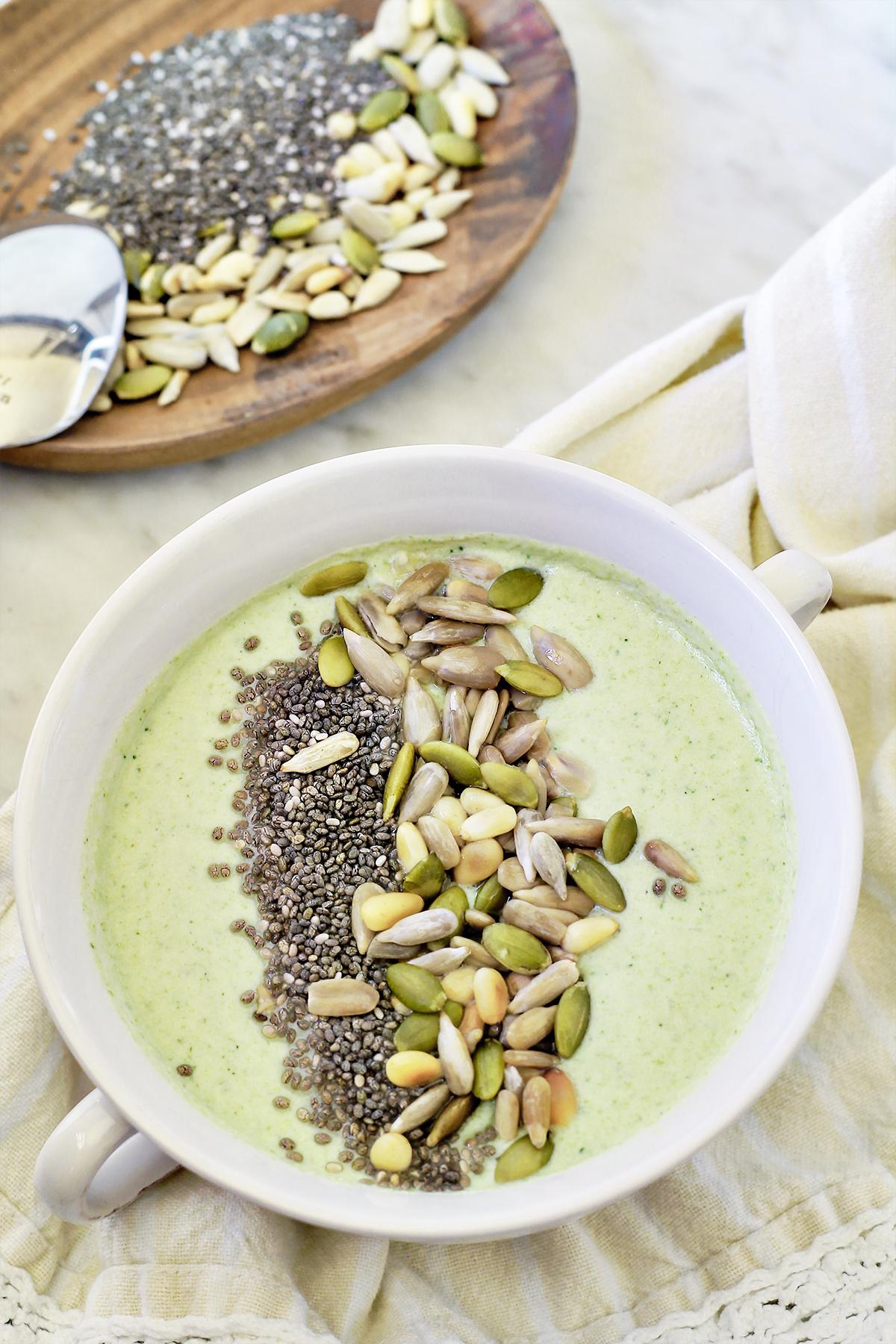 lchf zupa krem brokułowy kokosowe mleko dieta