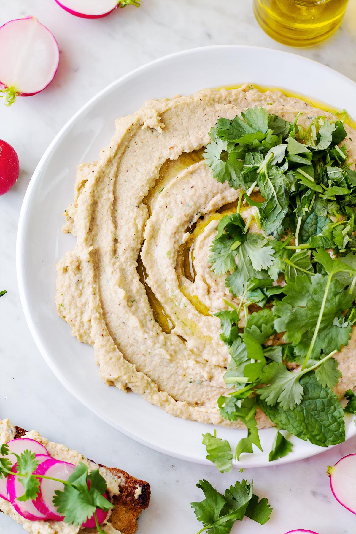 Niskoweglowodanowy hummus kalafiorowy lchf dieta zdrowe odchudzanie