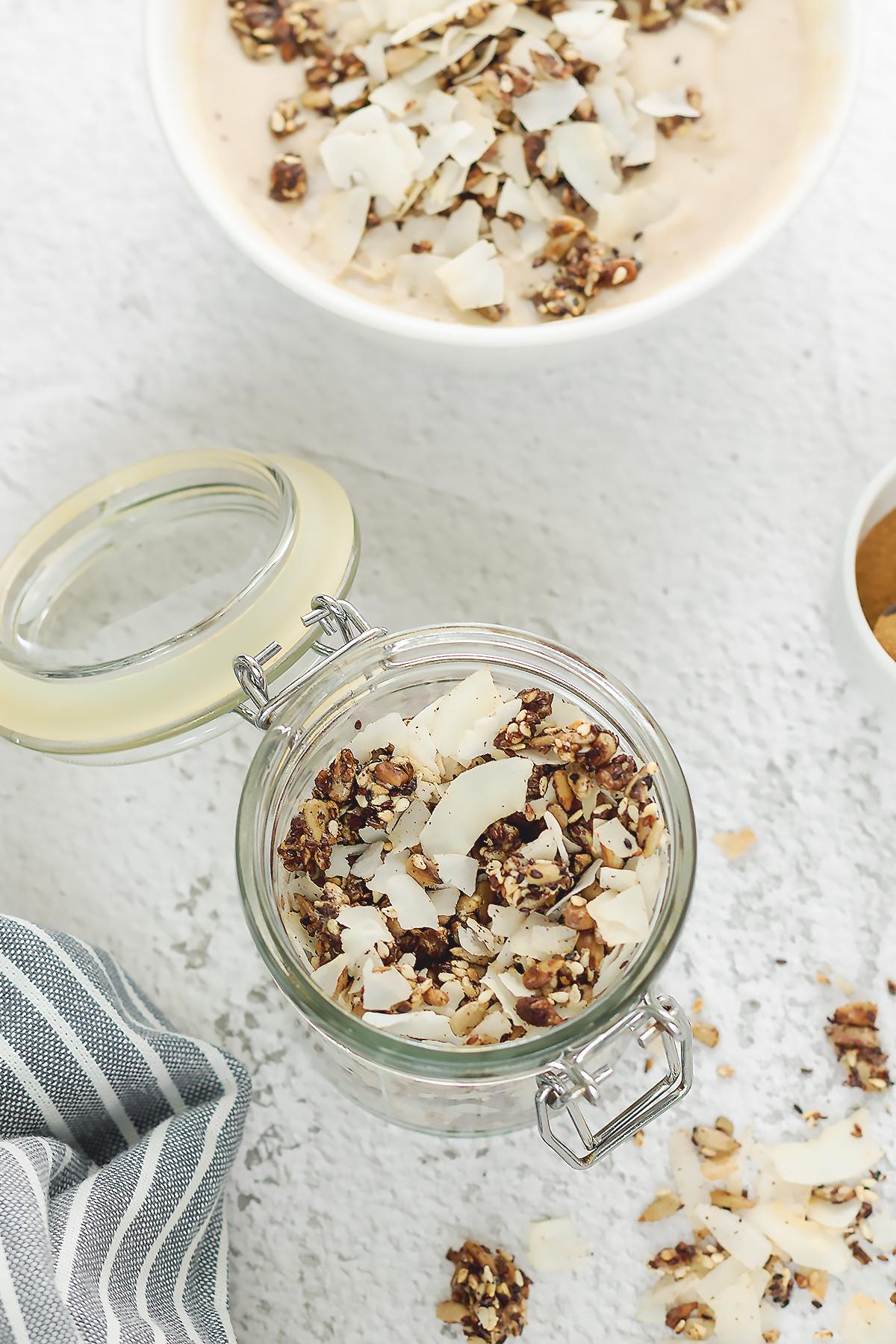 kokosowa granola dieta tłuszczowa lowcarb lchfdieta